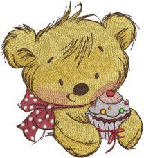 Teddy bear with cupcake 3
