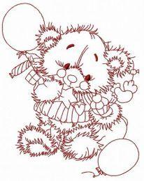 Teddy's birthday embroidery design 4