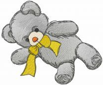 Teddy toy embroidery design 2
