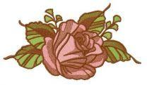 Tender rose embroidery design