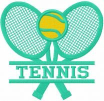 Tennis logo embroidery design