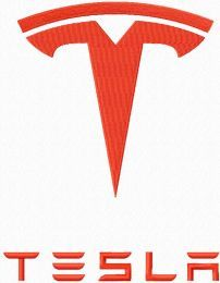 Tesla Motors logo machine embroidery design