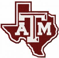 Texas A&M Aggies Sign embroidery design