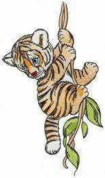 Tiger on liana