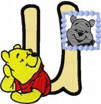 Winnie Pooh loves his portrait letter U