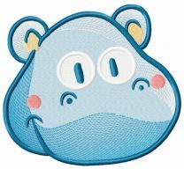 Tiny hippo embroidery design 3