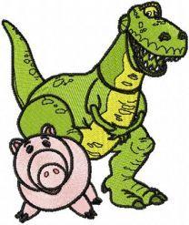 Dinosaur Rex and Pig