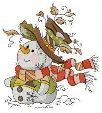 Trendy snowman