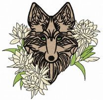 Tribal wolf machine embroidery design 8