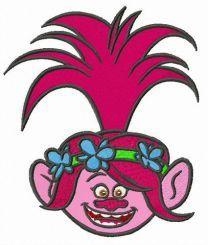 Troll Poppy embroidery design