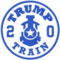 Trump train 2020 one colored embroidery design