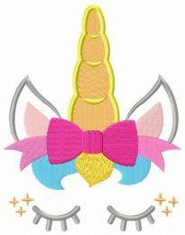 Unicorn girl embroidery design