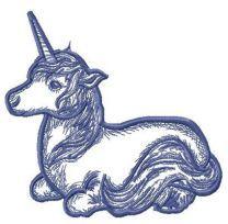 Unicorn resting