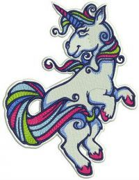 Unicorn with pink hooves