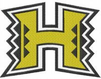 University Of Hawaii embroidery design
