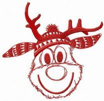 Very happy deer embroidery design