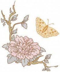 Vintage sakura in bloom