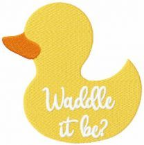 Waddle it be? embroidery design