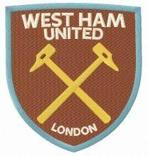 West Ham United F.C. logo embroidery design