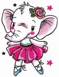 White elephant dances