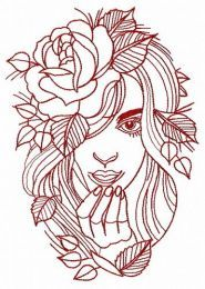 Wild stranger embroidery design 3