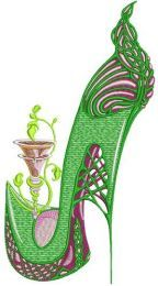 Winking high heel
