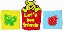 Winnie Pooh Let's bee friends