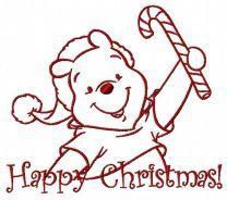 Winnie the Pooh in santa hat 2