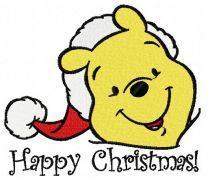 Winnie the Pooh in santa hat 3
