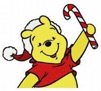 Winnie the Pooh in santa hat