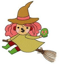 Witch costume embroidery design