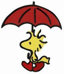 Woodstock with umbrella