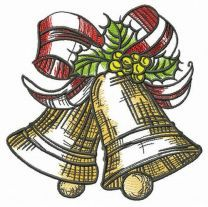 X-mas golden bells embroidery design
