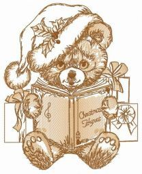 Xmas hymns for teddy bear embroidery design