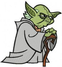 Yoda Thinks embroidery design