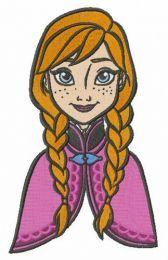 Young Anna embroidery design