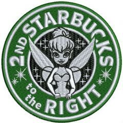 2nd Starbucks to the right embroidery design