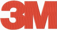 3M logo embroidery design