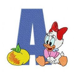 Mickey Mouse A Apple embroidery design