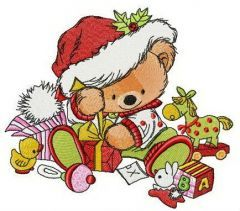 A lot of Christmas presents embroidery design