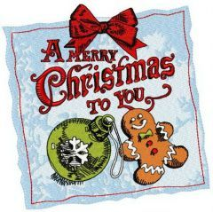 A Merry Christmas to you 2 embroidery design
