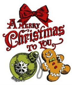 A Merry Christmas to you 3 embroidery design