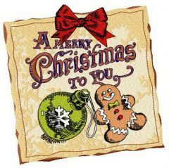 A Merry Christmas to you embroidery design