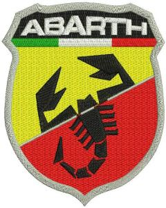 Abarth logo embroidery design