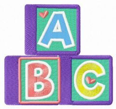 ABC cubes embroidery design