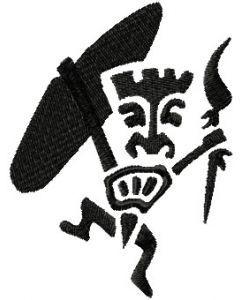 Aboriginal dancing 2 embroidery design