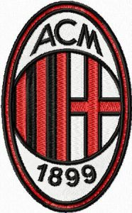 AC Milan embroidery design