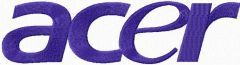 ACER logo embroidery design