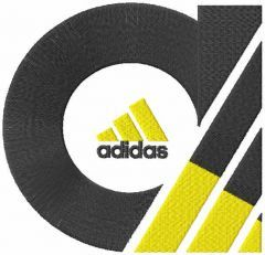 Adidas two colors logo embroidery design