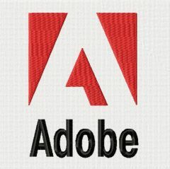 Adobe logo embroidery design